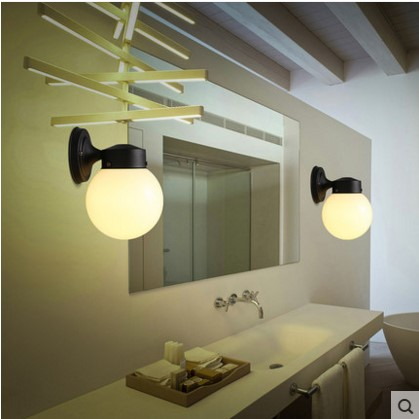 Led Indoor Wall Lamps Lights & Lighting Aplik Modern Led Wall Light With Glass Lampshade Indoor Lighting Wall Sconce Arandela Lampara Pared