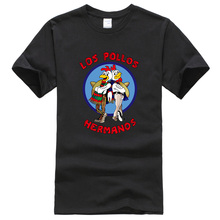2017 Breaking Bad LOS POLLOS Hermanos Men cotton T Shirts Chicken Brothers streetwear T-Shirts top Tops Tees pp funny camisetas