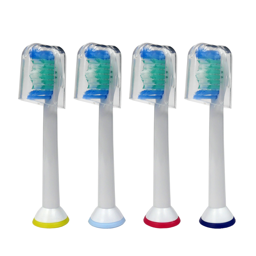 4pcs Replacement Toothbrush Heads HX6014 For Philips Sonicare ProResults HX6013 HX6530 HX6930 HX6950 HX6730 HX3110 HX6721 6512
