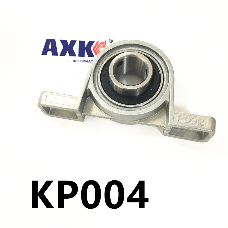 Free shipping 2pcs KP004 pillow block ball bearing 20mm Zinc Alloy Miniature Bearings with sleeve free shipping 2pcs ufl000 pillow block ball bearing 10mm zinc alloy miniature bearings with sleeve