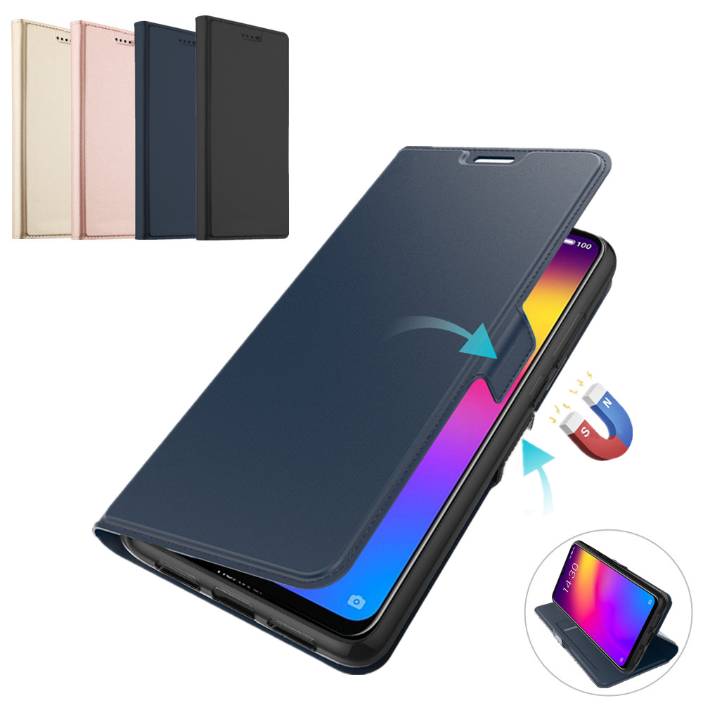for Meizu <font><b>Note</b></font> <font><b>9</b></font> <font><b>Case</b></font> PU Leather <font><b>Flip</b></font> Stand Wallet <font><b>Case</b></font> Full Protective Magnet Buckle Cover for Meizu Note9 <font><b>Case</b></font> Card Luxury image