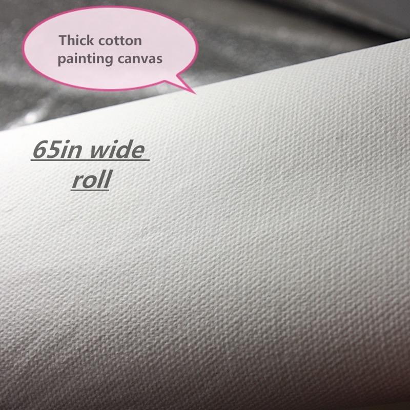 65in 와이드 100% 코튼 420g 두꺼운 캔버스 롤 중간 질감과 유화에 대한 폭 1.65 m-에서페인팅 캔버스부터 사무실 & 학교 용품 의  그룹 1