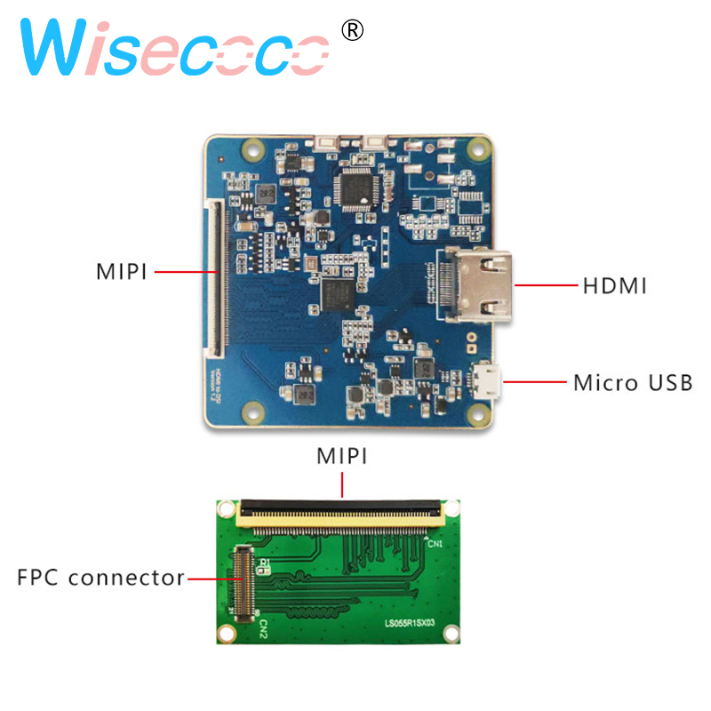 5 5 inch 1440x2560 2K IPS LCD screen display LS055R1SX03 with HDMI to MIPI controller board for Raspberry Pi 3 in Tablet LCDs Panels from Computer Office