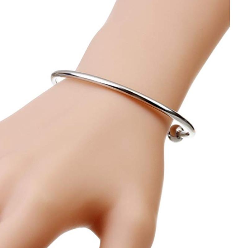 BS001-4 DIY bangle bracelets for women stainless steel