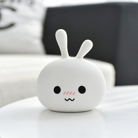 Rambery cute night light rabbit Colorful Silicone night lamp USB Rechargeable led light for kids children Birthday Holiday gift