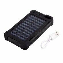 10000 мАч Запасные Аккумуляторы для телефонов Универсальный Солнечное Зарядное устройство Dual USB внешний Зарядное устройство Батарея Запасные Аккумуляторы для телефонов Длительное высокое Ёмкость для наружного