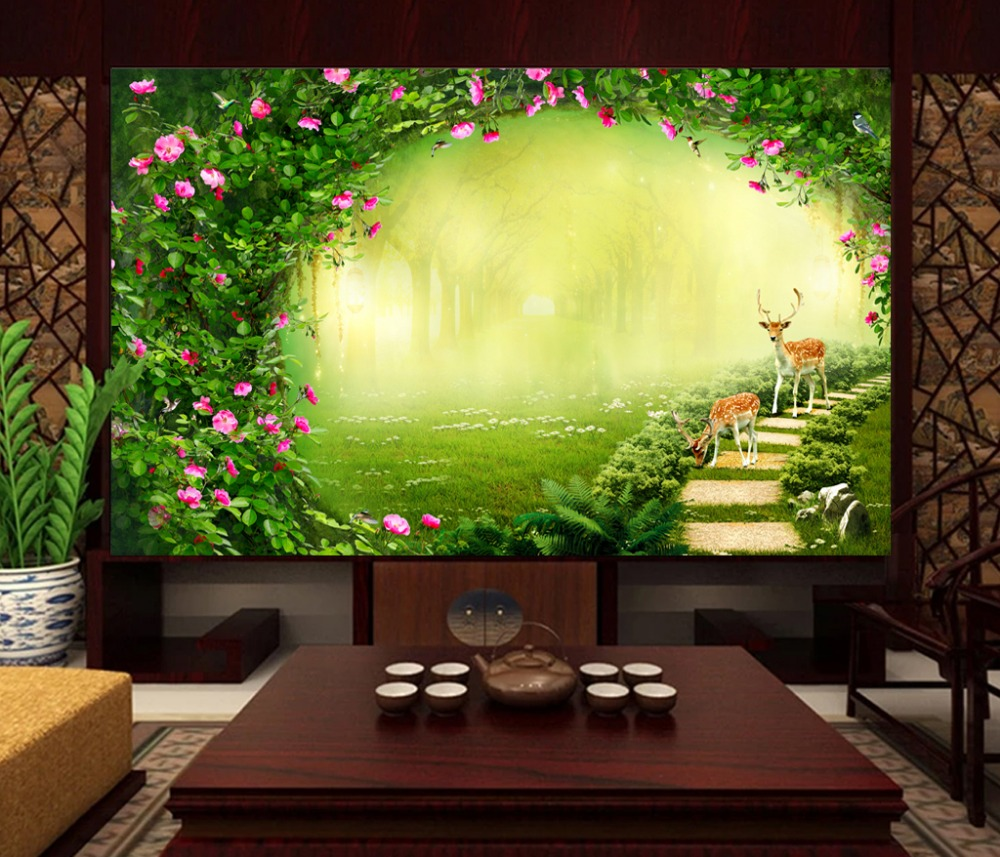 Photo Wallpaper Custom 3d Mural Living Room Two Cattle Jade Carving Painting Sofa Tv Background Non-woven Wallpaper For Wall 3d Wallpapers