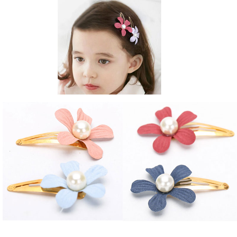 M MISM New Flower Pearl Headdress Cute Hairpins Hair Accessories Ornaments Hair Wear Hair Clips Hairgrip For Kids Girls 50pcs set printed flower patterns solid hair clips barrettes cute girls hairpins colorful love star headbands for kids hairgrip