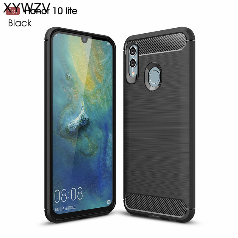 For Huawei Honor 10 Lite Case Soft Luxury Silicone Phone Back Cover Shell
