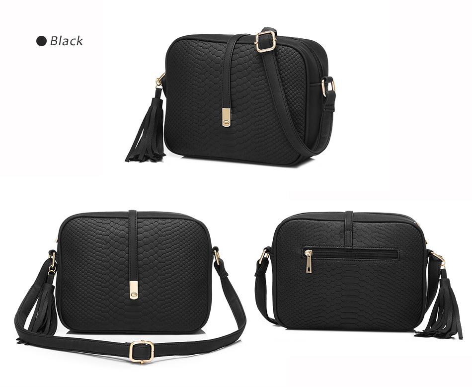 REALER brand small shoulder bag for women messenger bags ladies PU leather handbag purse tassels female crossbody bag women 2019 20