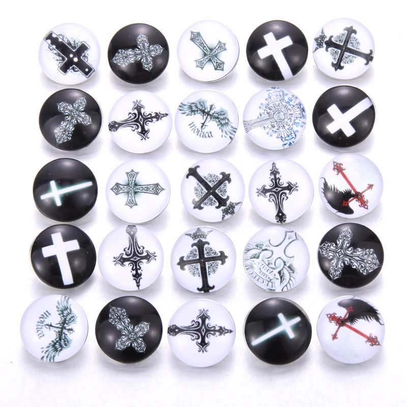 10 шт./лот, смешанные цвета и узор, 18 мм, стеклянные кнопки, ювелирное изделие, граненое стекло, оснастка, подходят, оснастки, серьги, браслет, ювелирное изделие - Окраска металла: AB220