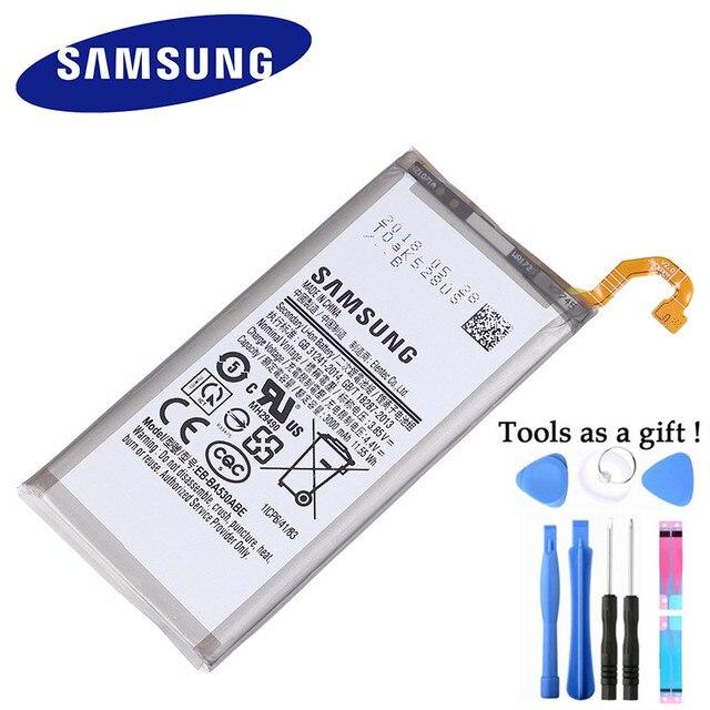 Samsung Batteria Originale per Samsung Galaxy Galaxy A8 2018 (A530) A530 SM A530F 3000 mAh Batterie di Ricambio Del Telefono EB BA530ABE