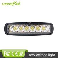LDRIVE 9 32V 18W LED Car Daytime Running Light LED Work Light Bar 6LED Fog Lamp