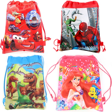 Spiderman Theme font b Drawstring b font Gifts font b Bag b font Birthday Party Moana