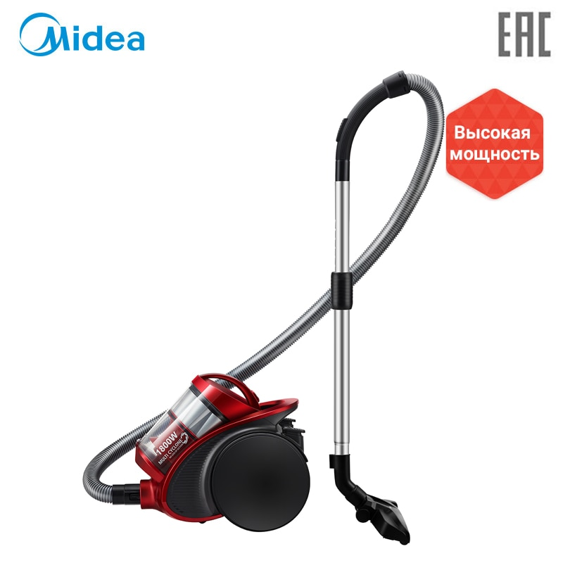 Vacuum Cleaner Midea VCM38M1 bagless canister with 1800W power and large suction power filter queen canister vacuum hose machine end coupling