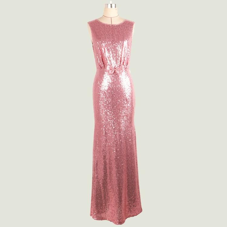 Compra vestido de lentejuelas de color rosa y oro online al por ...