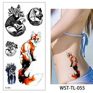 Image 5 - 110pcs/lot Fake Women Men DIY Henna Body Art Tattoo Design  Butterfly Tree Branch Vivid Temporary Tattoo Sticker