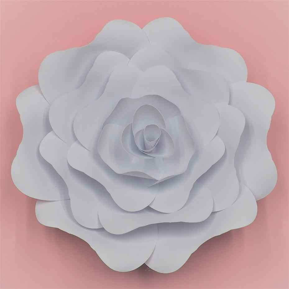 2018 Half Made Giant Paper Flowers Diy Full Kits For Wedding Event Decorations Backdrops Decor Video Tutorials 5 Sizes