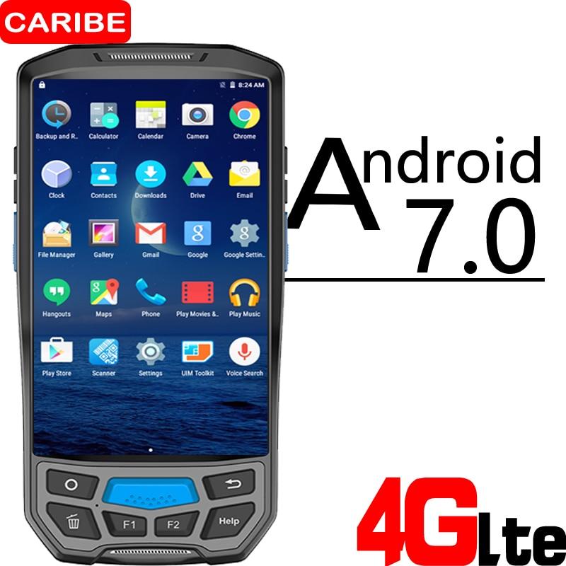 CARIBEPDA 1D 2D barcode scanner Wireless POS Terminal WIFI Bluetooth 1D 2D QR scanner GPS NFC UHF RFID industrial pda 1d