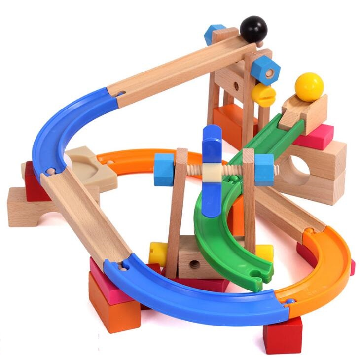 Ball Track Building Block Roller Coaster Toy Puzzle Disassembly Variety Nut Mechanism Building Block Game