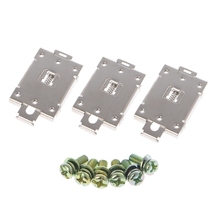 3 Pcs Single Phase SSR 35mm DIN Rail Fixed Solid State Relay Clip Clamp w./ 6 Mounting Screws Apr
