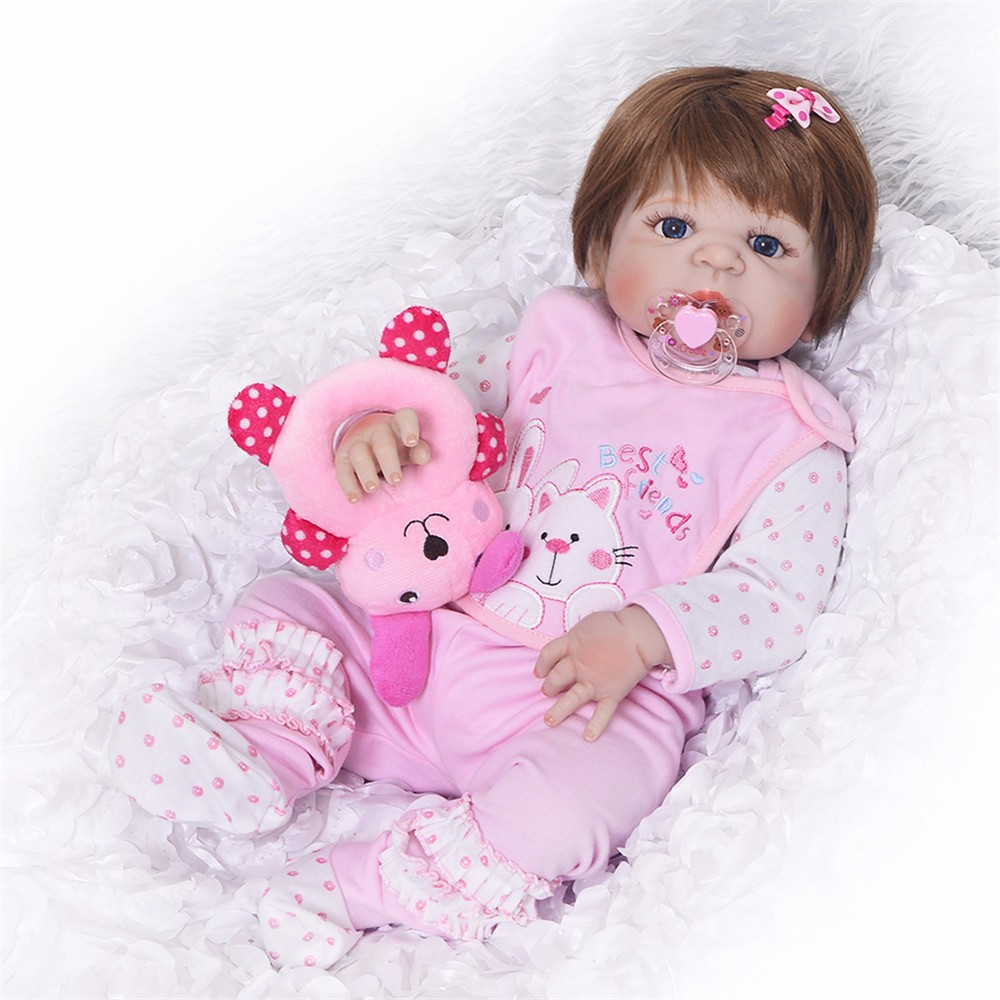 Bebes Silicone Reborn Baby New Handmade Alive 23 Newborn Baby Dolls body Wear Infant Clothes doll
