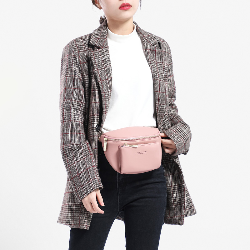 WEICHEN NEW Multi-functiona Women Fanny Pack Ladies Messenger Shoulder Chest Bag Female Fashion PU Leather Waist Bag Women's