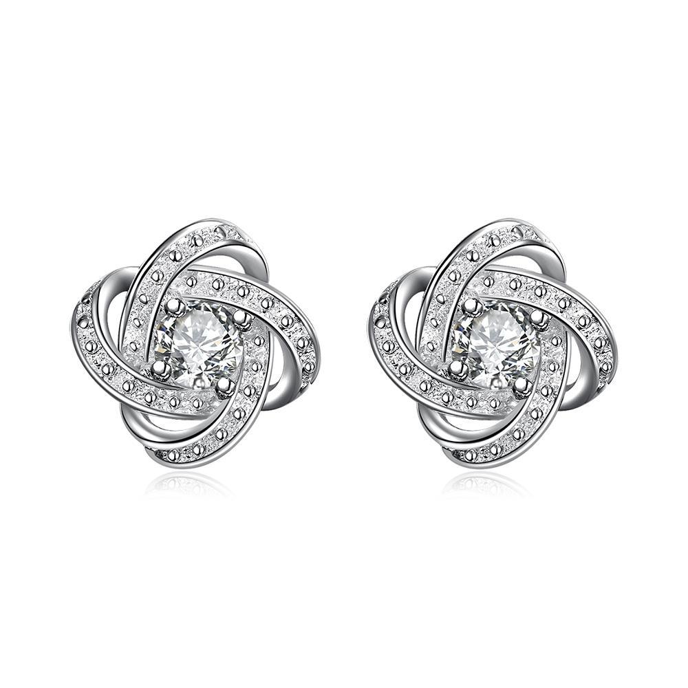 Zirconia Infinity Symbol Stud Earrings Women Cuff Ear Punk Fashion Nereides Jewelry Piercing Earring Female Club Factory In From