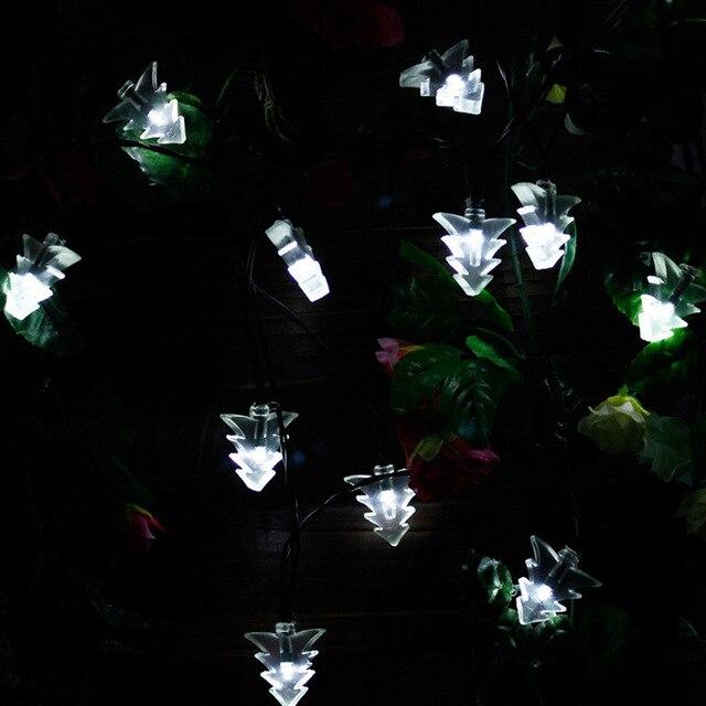 20 led solar christmas tree string lights fairy light waterproof outdoor energy saving holiday party wedding - Solar Christmas Tree