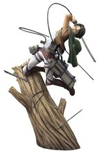 25cm Levi Ackerman Rivaille Li Weier soldiers Attack on Titan trunk standing battle Edition PVC action figure model toys