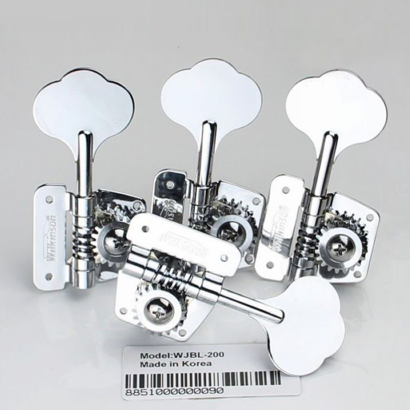 Open Frame Bass Machine Heads Tuners Wilkinson Tuning Peg Chrome for bass WJBL-200 цена