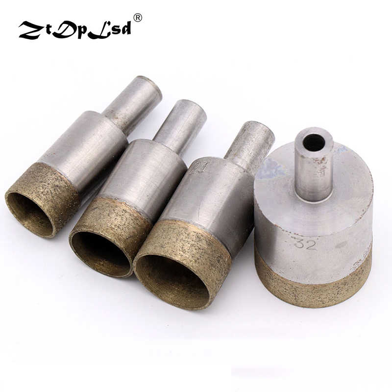 1pc 4-26 mm Sintered Diamond Core Drill Bits Straight Shank 6mm Hole Saw Bench Drill for Glass Ceramic Stone Marble Jade Plastic
