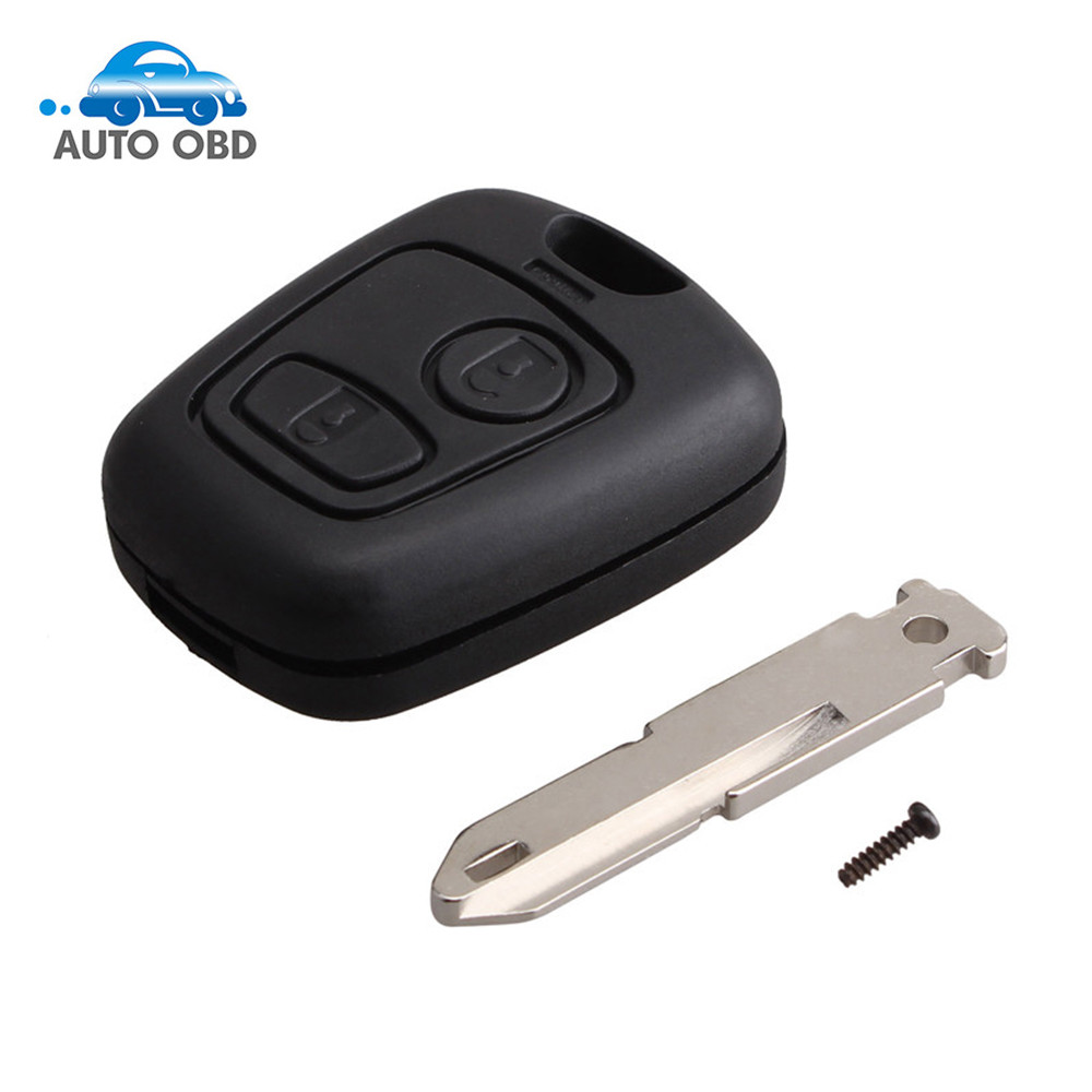 Open-Minded 2buttons Ne73 Blade Remote Key Fob For P-e-u-g-eot 206 433mhz With Pcf7961 Transponder Chip
