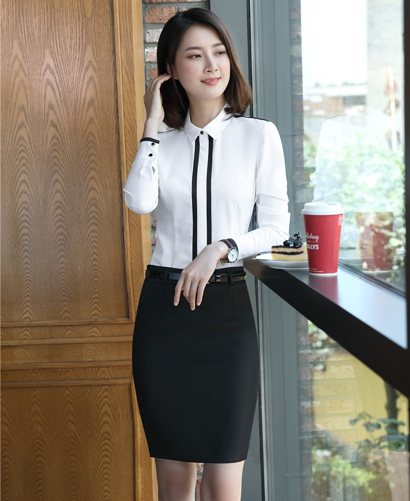 c3653343c AidenRoy Formal 2 Piece Sets Women Skirt and Blouse Suits Office Ladies  White Shirts & Tops shirt Work Wear Business Clothes