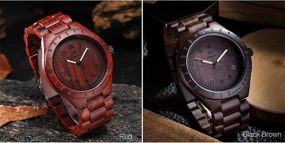 Bamboo Mens Luxury Brand Quartz WristWatches 14