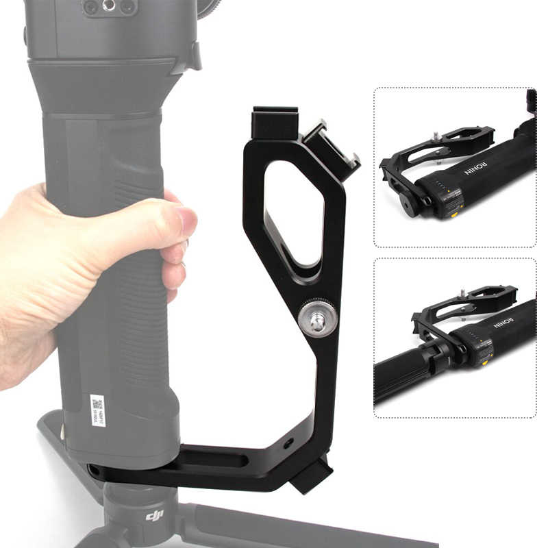 Accessoires de cardan L support pour DJI Ronin SC Crane 2 V2 Plus Feiyu AK2000 AK4000 DSLR poignée de stabilisateur de cardan avec 1/4 chaussure chaude