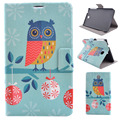 New Painted Hot Balloon Owl PU Leather Flip Case For Samsung Galaxy Tab 3 7.0 P3200 7 inch Tablet T210 Stand Case Cover