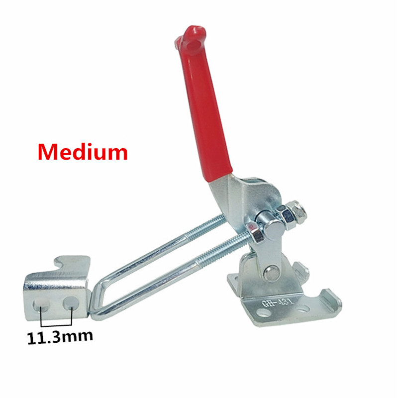1pcs GH 431 Medium Galvanized Hand Tool Outdoor Marine Grade Adjustable Hasp Fastener Toggle Latch Catch Hasps Trailer in Hasps from Home Improvement