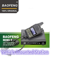 100% Original Baofeng Car Radio MINI 1 FM Ham mobile radio transceiver BF 9100A walkie talkie BF T1 MINI ONE Vehicle Mounted