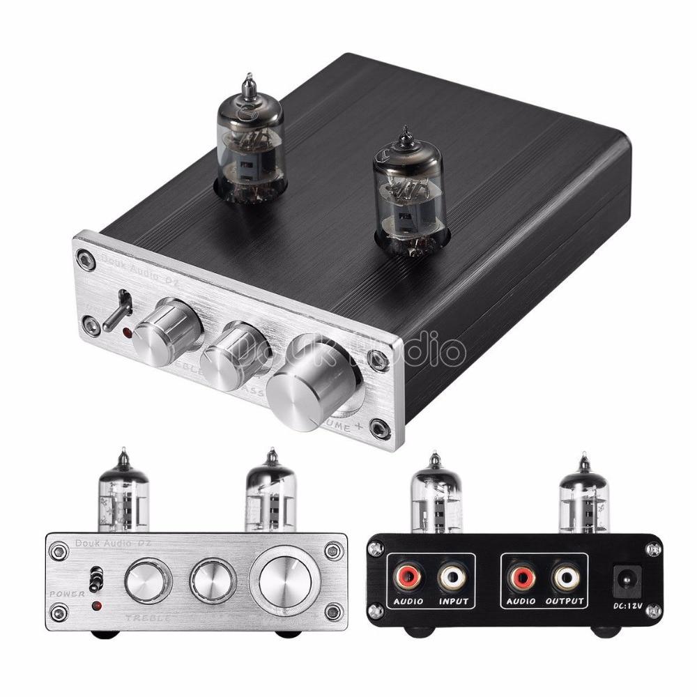 Douk Audio 6J1 Vacuum Tube Preamplifier HiFi Stereo Digital Pre Amp Treble Bass