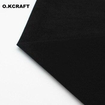 50*150cm tela de lana de Color negro sólido tejido de felpa Tissu para costura de muñeca tejido polar de terciopelo medio metro Q0901 fieltro de bucle