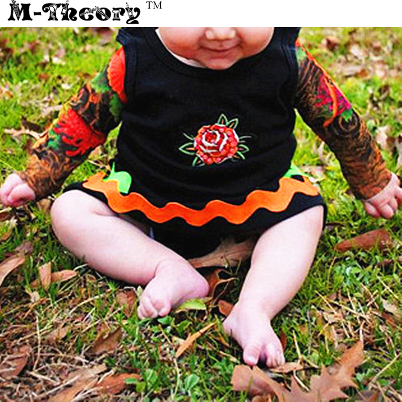 M-theory 1pcs Kid Size Sleeve Arm Tattoos Stockings Leggings Henna 3D Temporary Rocker Body Arts Biker Makeup Tools