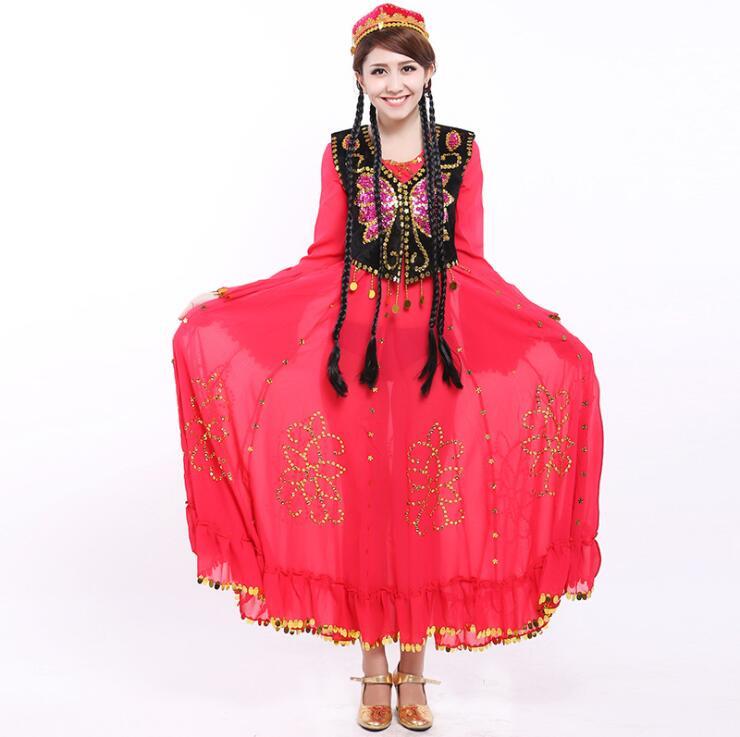Women dance costumes new costume ethnic minority dance costumes xinjiang costumes dress