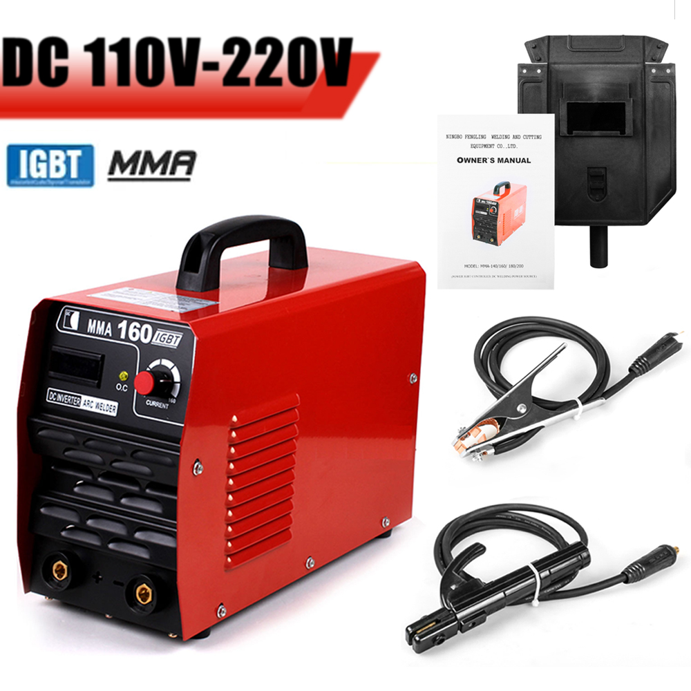 EVERPOWER Arc Welding 110V 220V IGBT Mini Inverter Electric Welder Machine 20 160A Copper Cable Mask Welder Free Gift