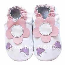 Free shipping 8pairs/lot Guaranteed 100% soft soled Genuine Leather baby shoes baby first walker dr0007-21