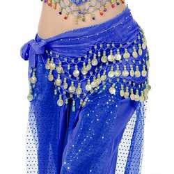 Высокое качество пикантные Для женщин танец живота хип шарф Обёрточная бумага ремня танец живота, Цвет костюм вечерние шифон танцор юбка