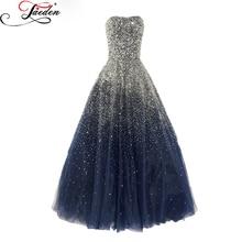 Jaeden beading luxo vestidos longos de noite vestido azul moda preto 2017 l295 tamanho personalizado plus size querido vestidos de mulheres do partido(China (Mainland))
