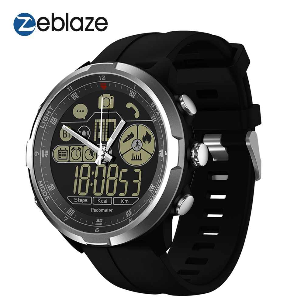 Dropshipping ZEBLAZE VIBE 4 HYBRID Rugged Smartwatch 1.24inch FSTN & Mechanical Hands Sapphire Glass Smart Watch Men Women