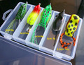 5pcs/set  mix Frog fishing Lure Soft Artificial Bait Lures black fish Topwater Hook 9-14G