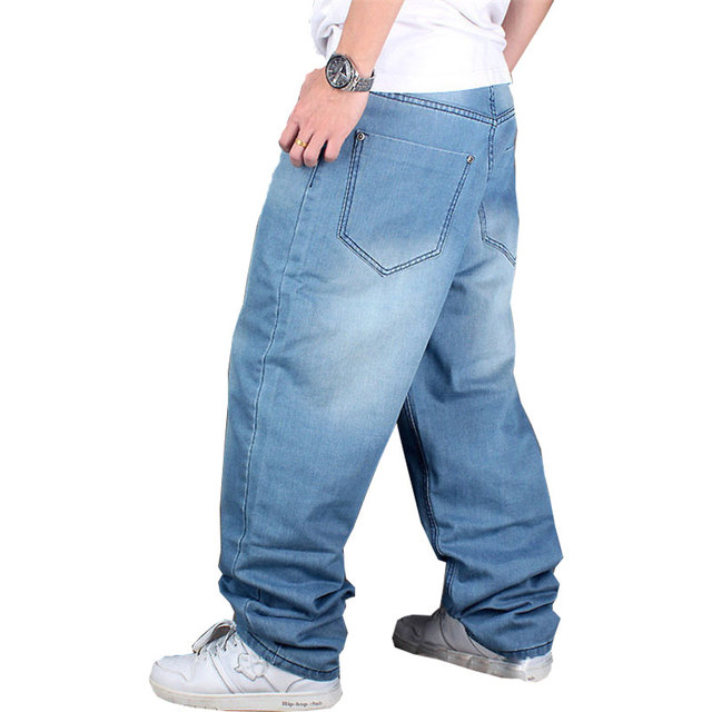 Europe and the United States tide brand Men's jeans Loose casual Fashion Breeches Hip Hop pants trousers pants Size 30-44 46